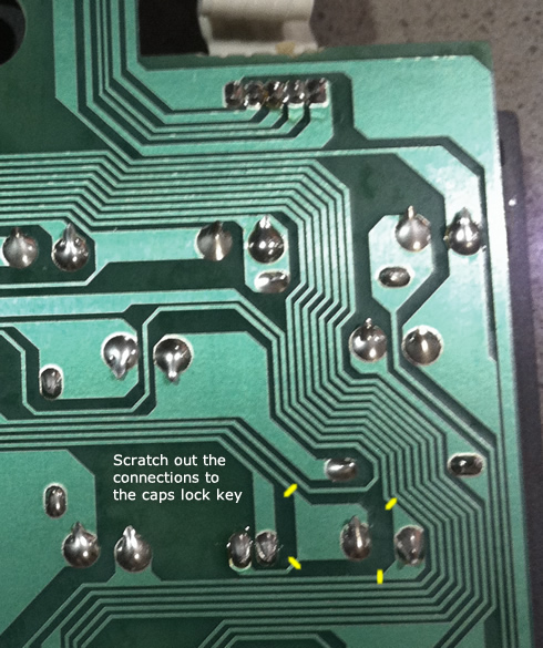 PCB traces to be scratched out